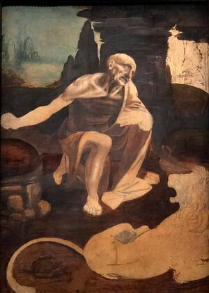 Saint Jerome in the Wilderness full